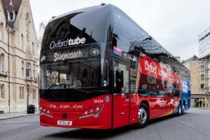 Oxford Tube coach in Broad Street