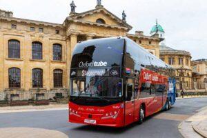 Oxford Tube outside The Sheldonian